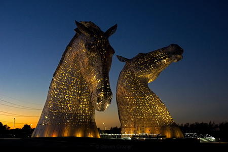 Sunset Kelpies