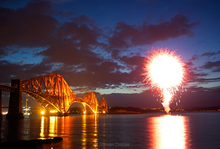 Forth Bridge fireworks