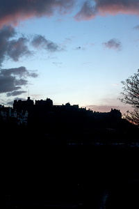 Edinburgh Castle sundown