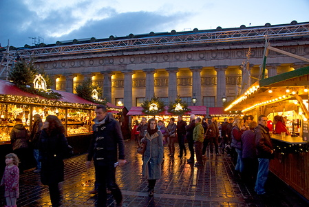 Edinburgh German market at Christmas