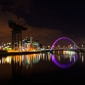 Dramatic Glasgow at night